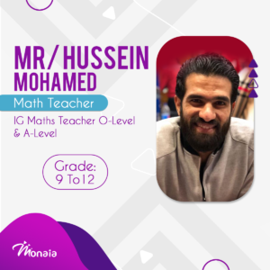 IG Math O and A-Level Edexcel Teacher Tutor – Hussein mohamed