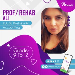 IGCSE Business and Accounting Tutor – Rehab Ali