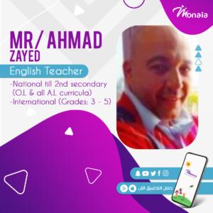 English IGCSE IELTS Tutor – Ahmad Zayed
