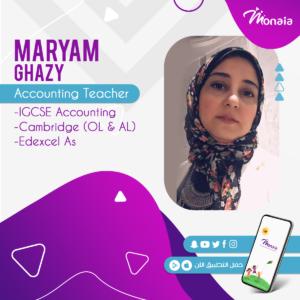 IGCSE Accounting – Maryam Ghazy