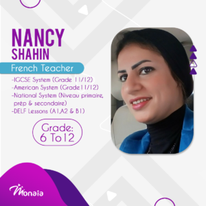 French IGCSE SAT Tutor – Nancy Shahin