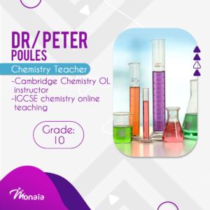 Chemistry IGCSE Tutor – Peter Poules