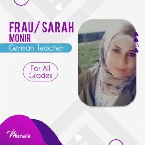 German Tutor – Sarah Monir